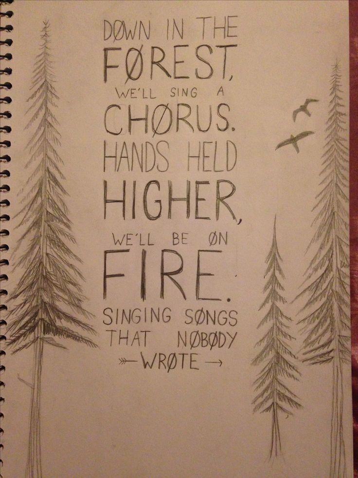 (fan lyric art) Lyrics from 'forest' by twenty one pilots. by @maya876876
