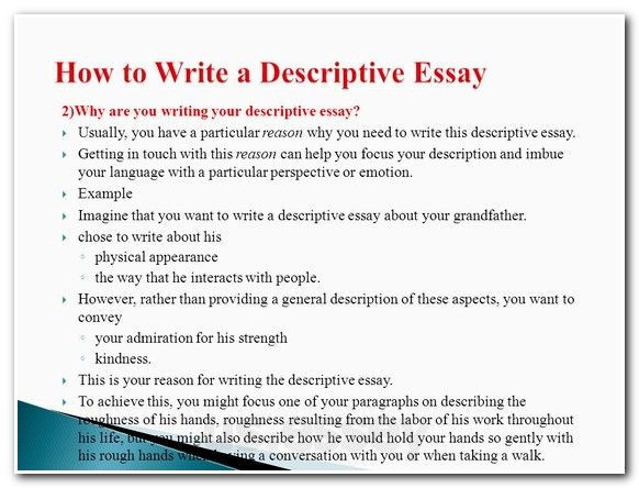descriptive essays topics Choosing a topic for the descriptive essay if you're not sure what to write about, consider the following descriptive essay topics a person of importance to you.