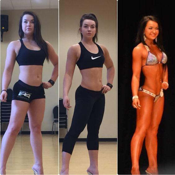 8-week bikini prep transformation! Instagram: @alexmariefit