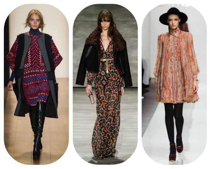 10 Fall 2015 Trends From New York Fashion Week - 1970s boho. From left: BCBGMAXAZRIA, Rebecca Minkoff, Zimmermann | StyleCaster