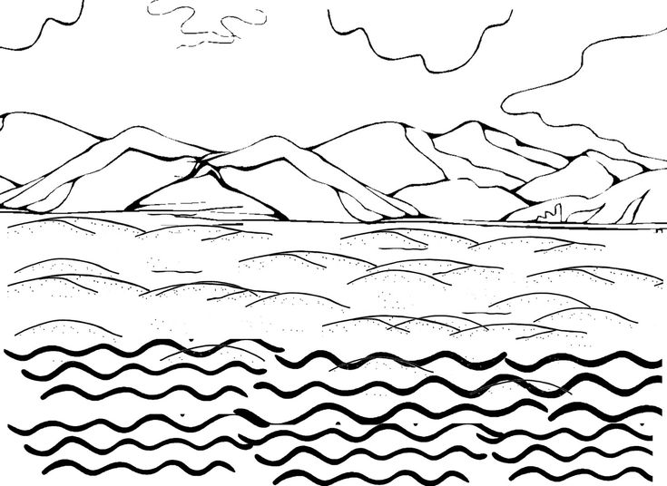 Air, Land, And Sea Coloring Page