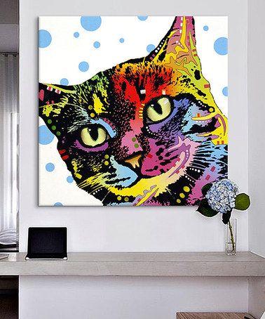 Look at this #zulilyfind! The Pop Cat Wrapped Canvas by Dean Russo #zulilyfinds