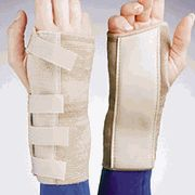 Cock-Up Wrist Brace    Price = $16.95    The Elastic Cock-Up Wrist Brace by FLA Orthopedics provides support for injured wrists while helping to prevent re-injury. This brace is also a solid choice when support is needed for weakness in the wrist due to injury or Carpal Tunnel Syndrome.