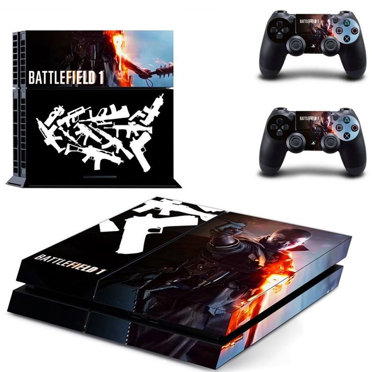 new BATTLEFIELD 1 PS4 Skin Sticker For Sony Playstation 4 Console protection film and Cover Decals Of 2 Controller