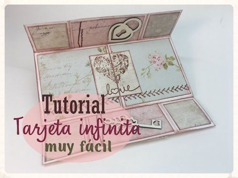 Tutorial Tarjeta infinita muy fácil by Crafting Hours - YouTube