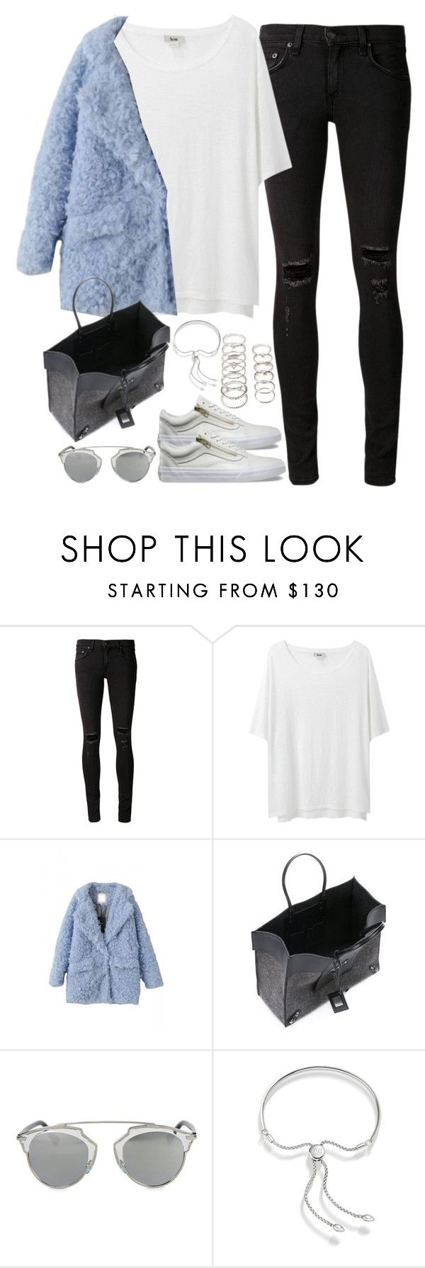 """Untitled#4083"" by fashionnfacts ❤ liked on Polyvore featuring rag & bone/JEAN, Acne Studios, Vans, Balenciaga, Christian Dior, Monica Vinader and Forever 21"