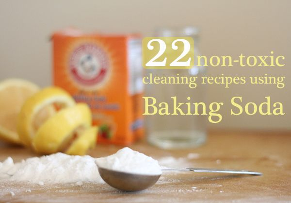 Did you know that there are 22 ways you can clean with just baking soda? How awesome is that!