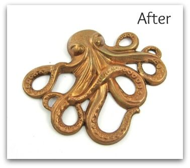 My experience using the vinegar-and-salt patina on brass tutorial from B'Sue Boutiques - complete with before and after photos! #DIY #jewelry #metal
