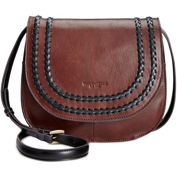 Tignanello Classic Boho Saddle Bag (125,075 KRW) ❤ liked on Polyvore featuring bags, handbags, brown, boho purses, red handbags, red purse, tignanello purse and genuine leather purse