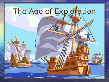 "The Age of Exploration is a 102 slide PowerPoint Presentation that presents pairs of slides—answers first—with the question on the second slide.   Plus there is a 15 question map skills section at the end that reviews latitude and longitude, directions on a compass rose, using scale to estimate distance, and using a map key, or legend. You may choose to use these slides for instruction or review, or you may do a ""save as"" and make your own customized Explorer Slide Show"