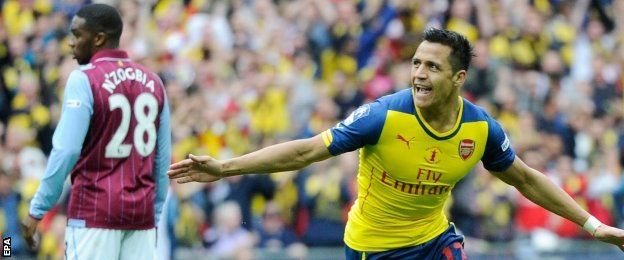 Alexis Sanchez became the second Chilean to score in an FA Cup final, after Newcastle's George Robledo in 1952.