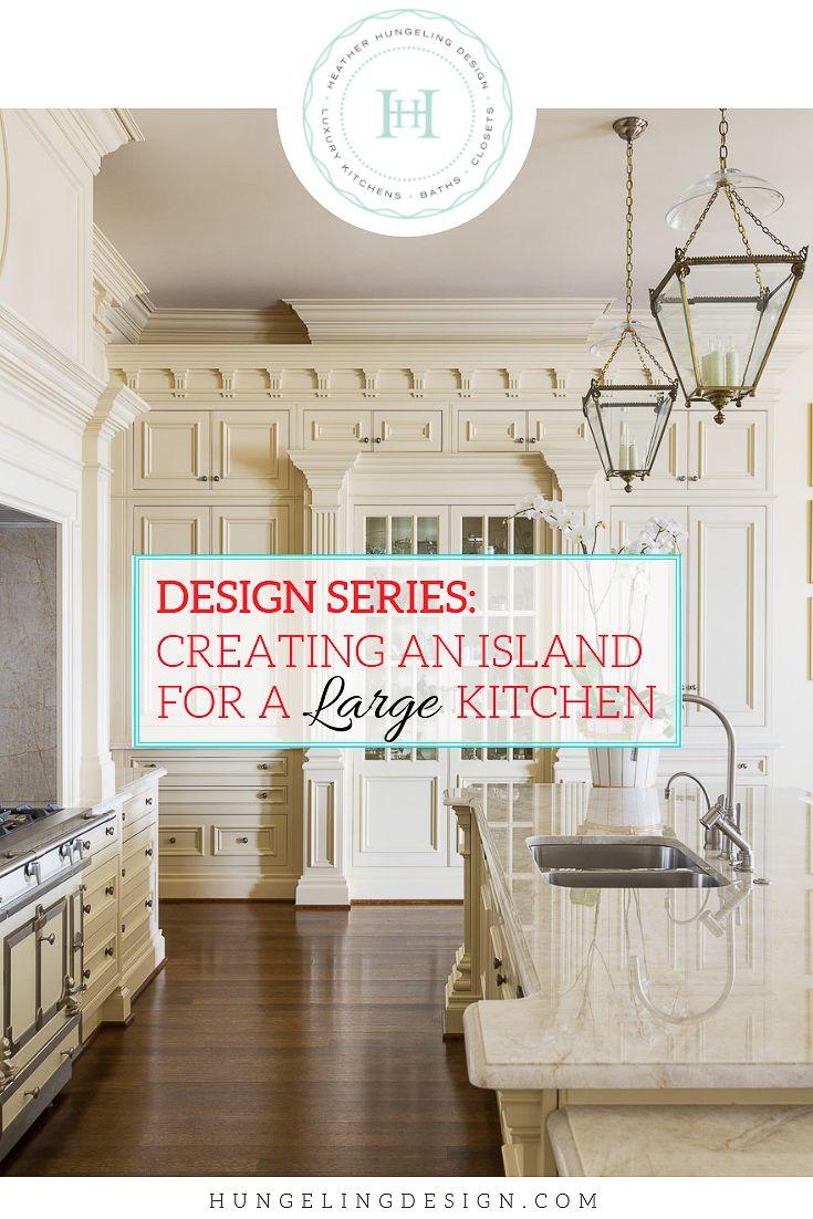 Designing a large kitchen island in kitchen design