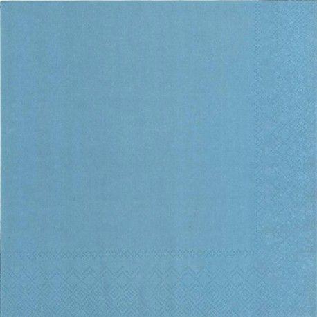 Middagservietter riviera blå 40 x 40 cm 20pk