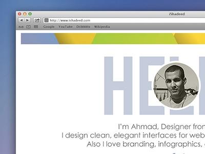 My Website by Ahmad Shadeed