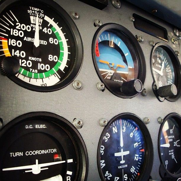 When a pilot refers to a 6-pack... its about these six basic instruments on the control panel - not the favored cervesa.
