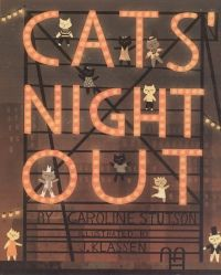 Cats' Night Out was the recipient of the 2010 Governor General's Literary Award for Illustration.