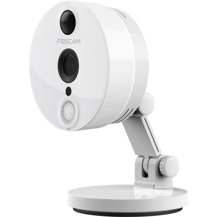 C2  De Foscam C2 is een 1080P Full HD 2 megapixel binnen ip-camera. Dankzij de plug-and-play installatie film je heel eenvoudig een kamer hal of andere ruimte in huis. De beelden zijn te bekijken via de computer of dankzij de Foscam ip cam viewer app op je smartphone of tablet. Dankzij het IR-cut filter en infraroodverlichting heb zowel overdag als 's nachts goed beeld. De Foscam C2 heeft nachtzicht tot 8 meter.  EUR 119.90  Meer informatie