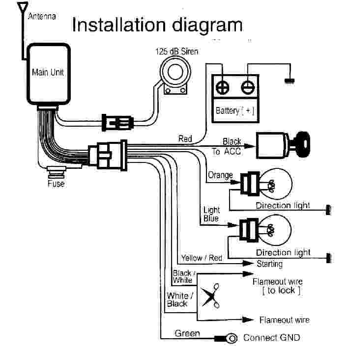 Wiring Diagram Of Motorcycle Alarm System (With images