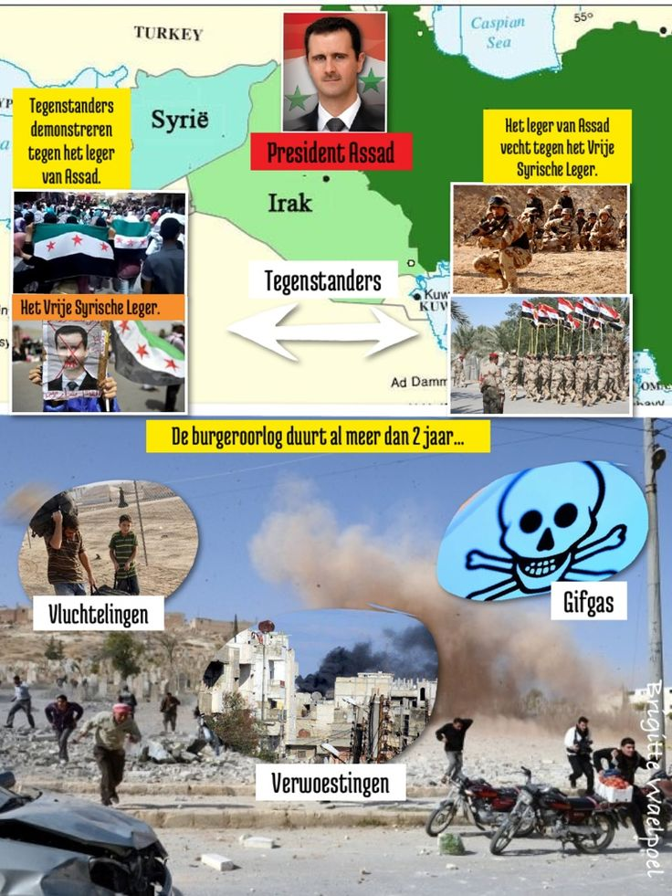 Collage gemaakt bij Nieuwsbegrip over Syrië