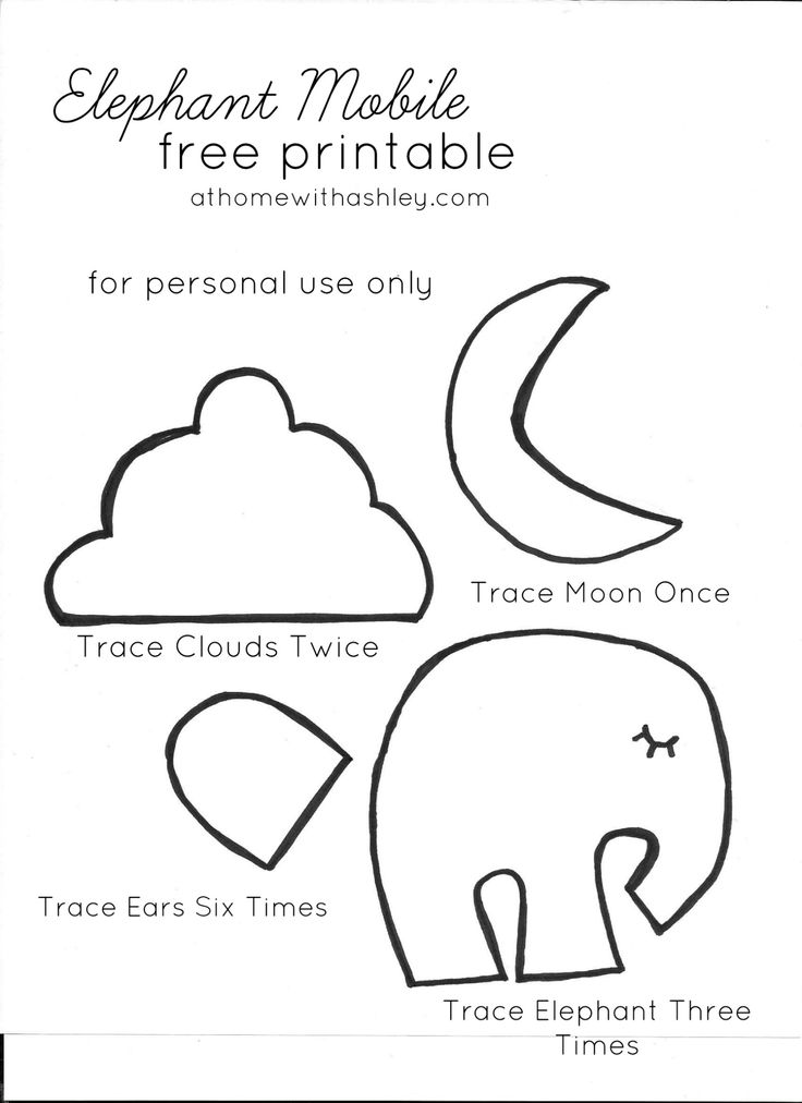 elephant mobile printable