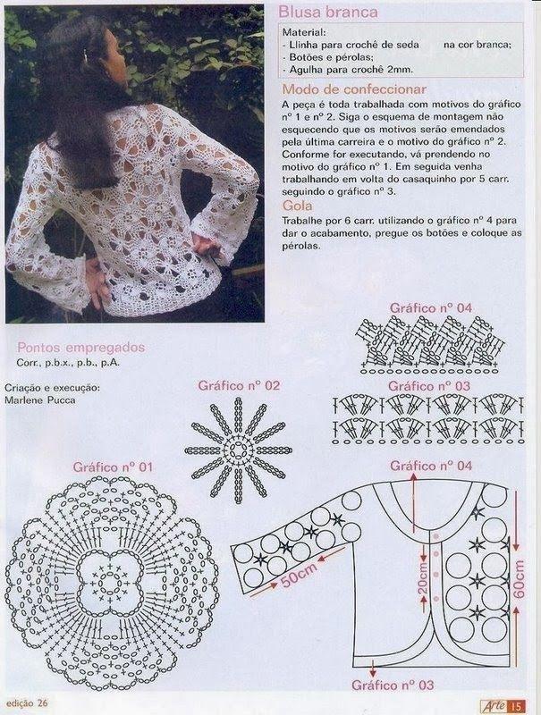 287 best Jerseys crochet images on Pinterest   Ganchillo, Patrones ...
