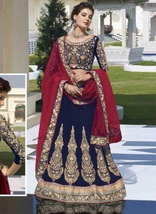 Blooming Blue Heavy Work Designer Bridal Lehenga Choli#WeddingLehenga#Choli…