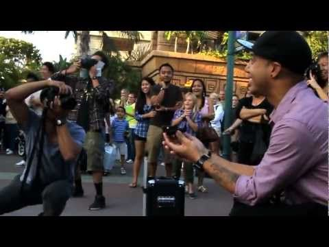 The coolest little Disney flash mob proposal you've ever seen.  Just look at their faces!  And I love the song...