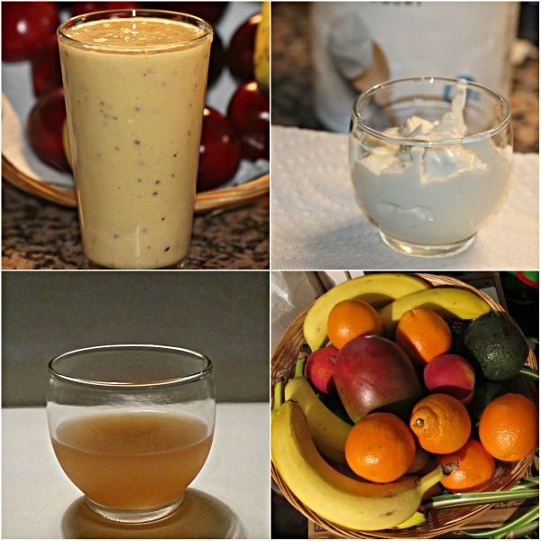"""Food Files: Best Apple Cider & Fruit Smoothie - Some of the Ingredients. What do you enjoy eating? """"Food is our common ground, a universal experience."""" James Beard #food #foodie #recipes #stories #quotes 