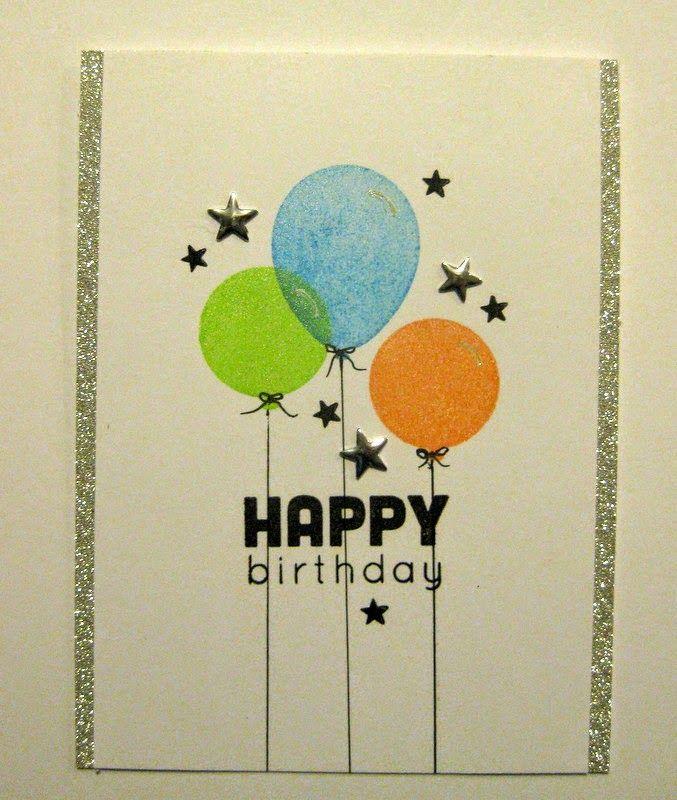 Morning Glory Card Studio: birthday balloons. . . .