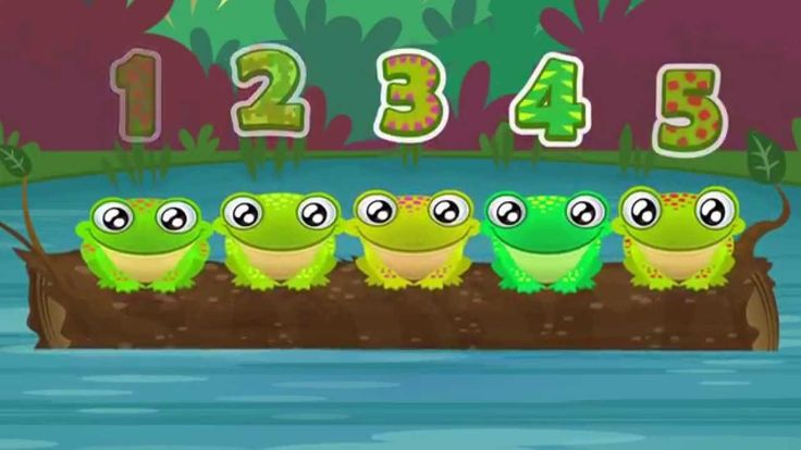 5 Green and Speckled Frogs | Song for Children  using this tune for five clean and squeaky pigs