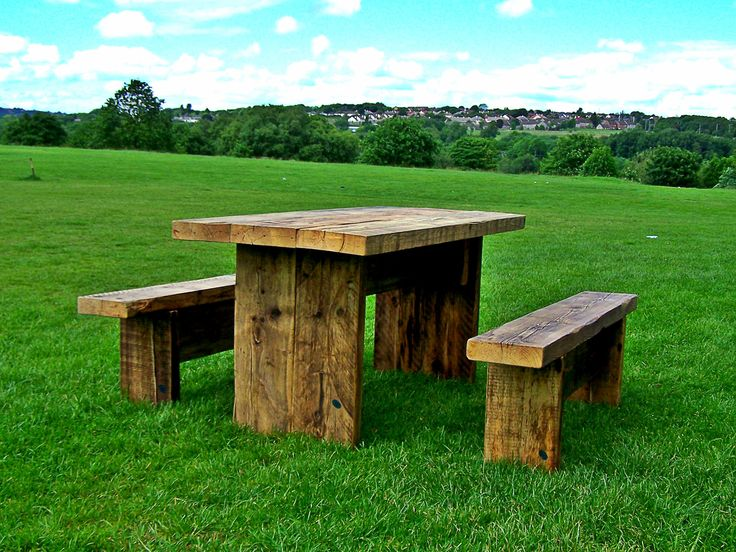 Rustic Twist Garden Table and Bench Set by Green Thumb Print
