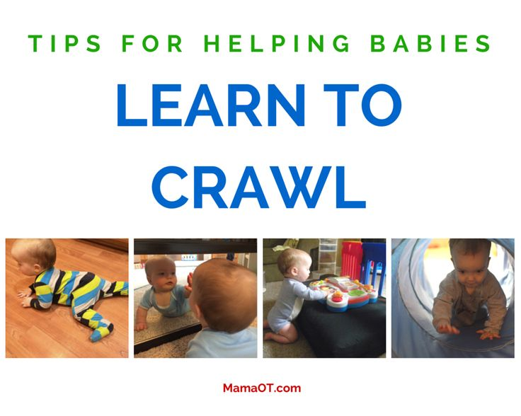 Tons of practical tips to help babies learn to crawl! #babies #childdevelopment #pediOT