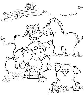 Colorear animales de granja