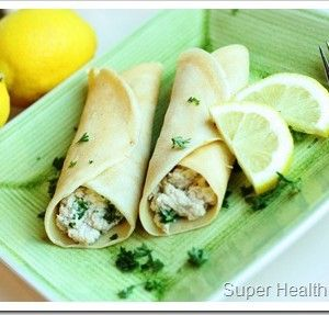 Lemon Chicken with Spinach Parmesan Crepes {Video!}