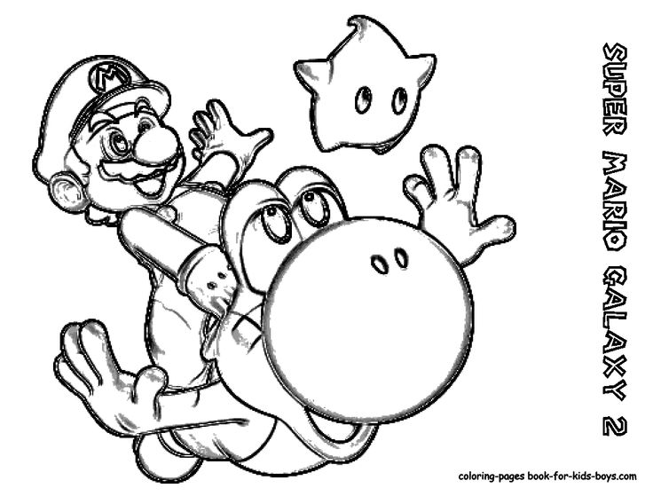 pprintable yoshi and mario | Print the coloring : Famous ...