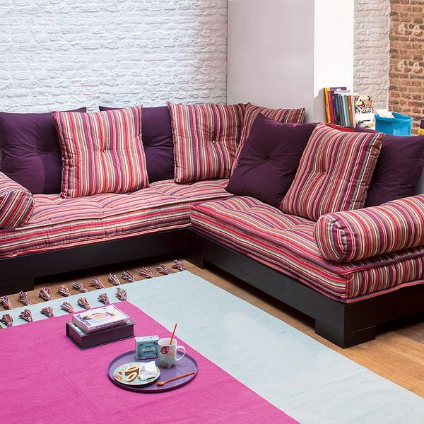 2013 New Colorful Latest Sofa Trends Stripes Color