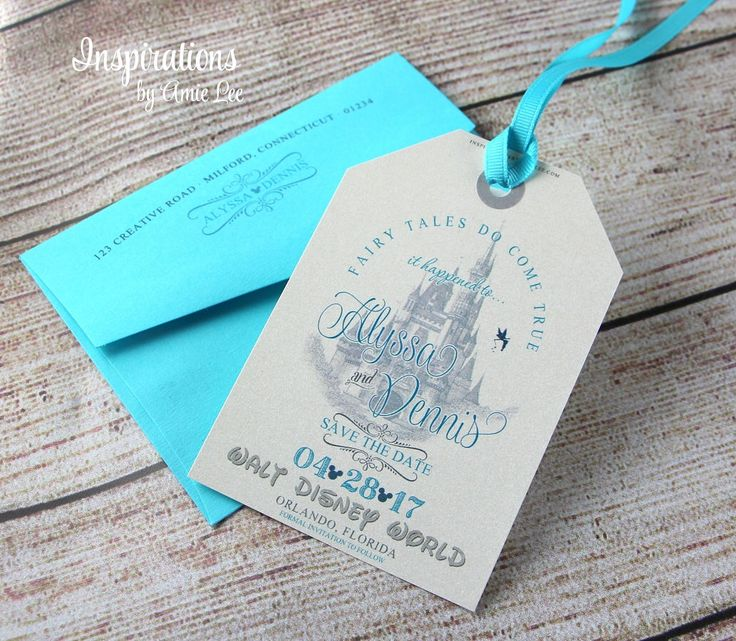Disney Save the Dates, Luggage Tags, Save The Dates, Fairy Tale Wedding, Disney Wedding, Disney Invitations by InspirationsbyAmieLe on Etsy https://www.etsy.com/uk/listing/216190579/disney-save-the-dates-luggage-tags-save