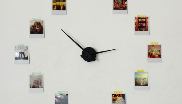 DIY Horloge rétro avec des tirages photo