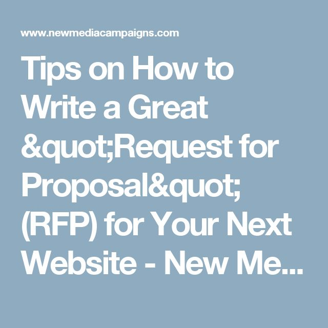 Best 25+ Request for proposal ideas on Pinterest Auction - request for proposal example