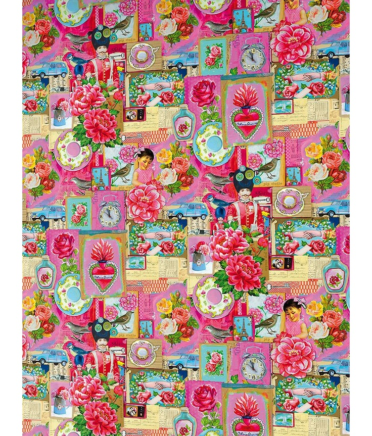 pip studio - love the collaged look, maybe could make one like this with the old photos and cartoon characters from Belle vue and Blackpool pleasure beach