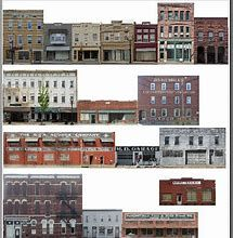 photograph about Printable Model Railroad Buildings called Graphic outcome for Printable Design Railroad Backdrop Constructions