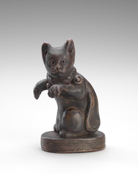Stoneware (Bizen ware) Cat Figure - Japan, 19th century - National Gallery of Victoria, Melbourne