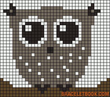 Owl perler bead pattern - turn it into granny square blanket!