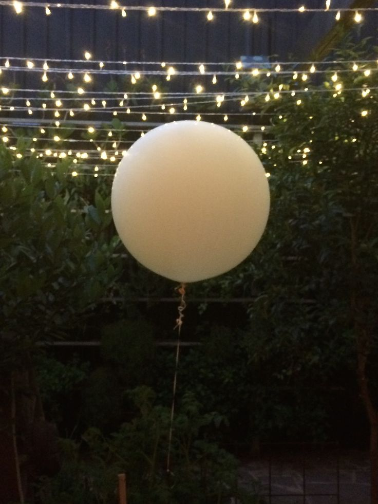 Belle Weddings. Fairy lights and a giant balloon. We love a #warehouse wedding!