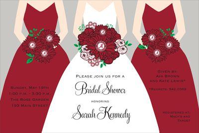 University of Alabama Shower Invitations, for when I get married: Raider Weddings, Alabama Bridal, Alabama Shower, Beautiful Bridal, Shower Invitations, Catalog, Wedding Invitations, Dream Wedding, Bridal Showers