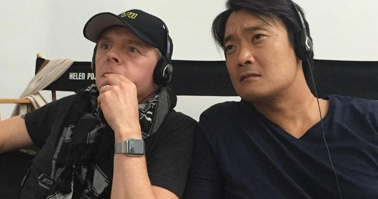 'Star Trek Beyond' Wraps Production -- Simon Pegg and his co-writer Doug Jung watch from behind-the-scenes in the final photo from the set of 'Star Trek Beyond'. -- http://movieweb.com/star-trek-3-beyond-wraps-production/