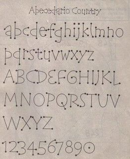Alfabeto country ou letras de pontinhos by TUKKA*  -  Fuxicos, Retalhos e Penduricalhos, via Flickr