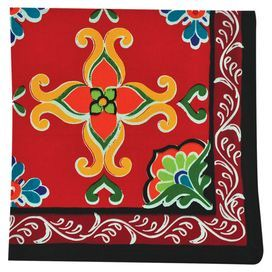 "Bring Southwestern charm to your kitchen or breakfast nook with this cotton napkin, featuring a Mexican-inspired medallion motif.   Product: Set of 4 napkinsConstruction Material: 100% CottonColor: MultiDimensions: 20"" x 20"""