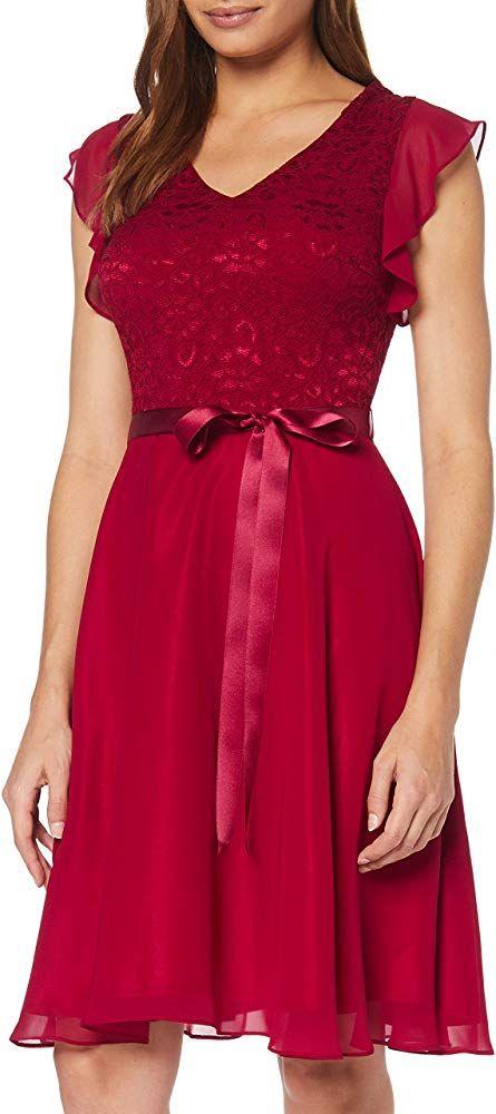 Swing Damen Midi Chiffon-Kleid mit A-Linie #bekleidung # ...