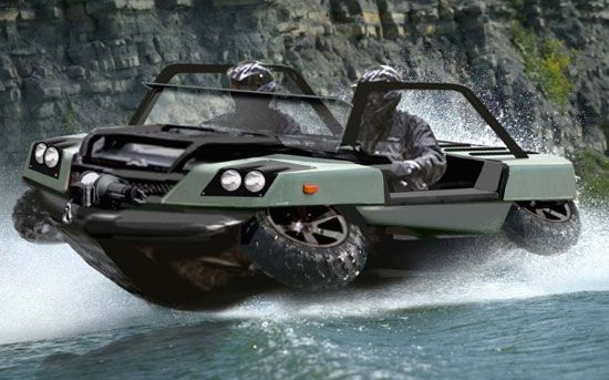 "Land or water, nothing can stop this ""Bug Out"" vehicle."